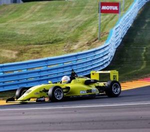 kaylen frederick   pilot one racing   yellow race car
