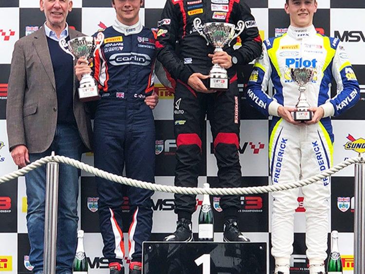 kaylen frederick | pilot one racing | winners podium 3rd place