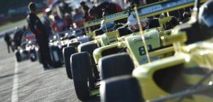 kaylen frederick   pilot one racing   race cars lined up