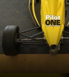 kaylen frederick   pilot one racing   pilot one racing logo on car