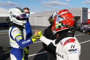 kaylen frederick | pilot one racing | handshake other driver