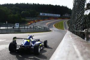 kaylen frederick | pilot one racing | race car on track