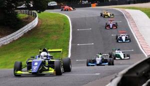 kaylen frederick   pilot one racing   group of race cars