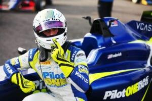 kaylen frederick | pilot one racing | pointing helmet