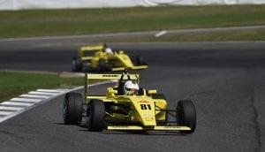 kaylen frederick | pilot one racing | racing into turn