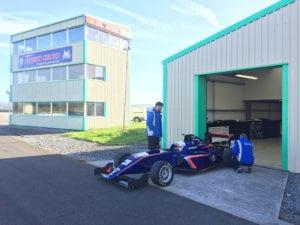 kaylen frederick | pilot one racing | team working at garage