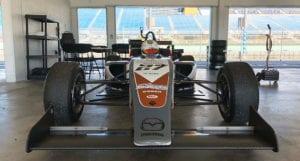 kaylen frederick | pilot one racing | front of race car