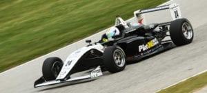 kaylen frederick | pilot one racing | race car turning
