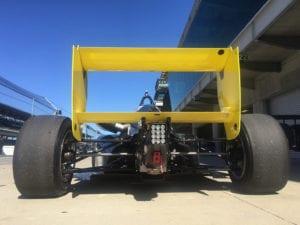 kaylen frederick | pilot one racing | back of race car