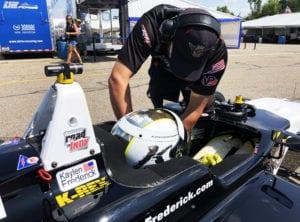 kaylen frederick | pilot one racing | team member helping kaylen