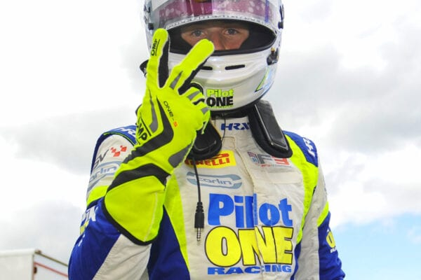 kaylen frederick | pilot one racing | peace sign