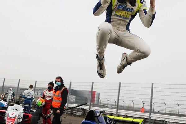 kaylen frederick | pilot one racing | winning jump