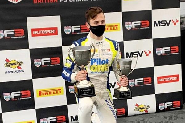 kaylen frederick | pilot one racing | f3 podium